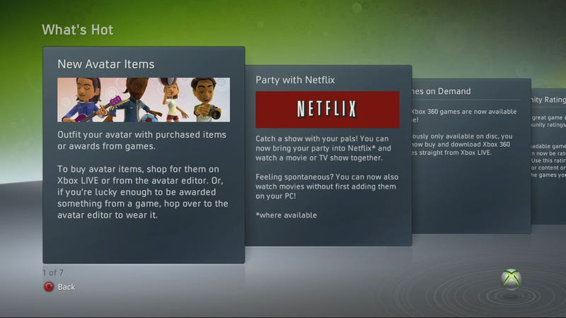 Xbox Live Update: Games On Demand, Netflix Movie Party & More