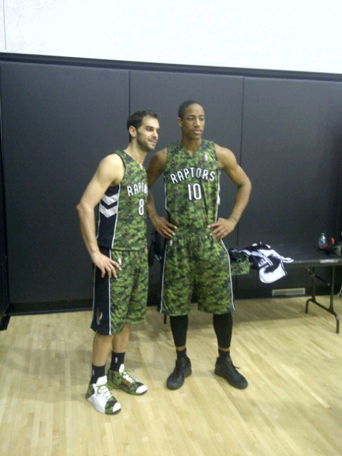 Yes, The Raptors Are Actually Wearing Camouflage Jerseys Wednesday