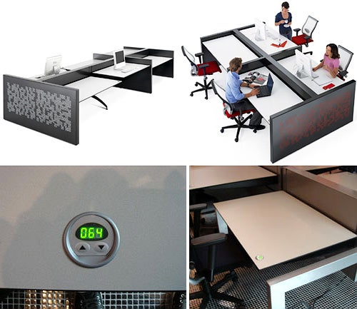 Ahrend 750 Office Furniture Electronically Adjusts For the Freakishly Short