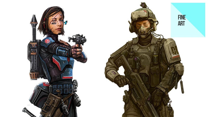 Game Art From Star Wars, Command & Conquer, Call of Duty & More