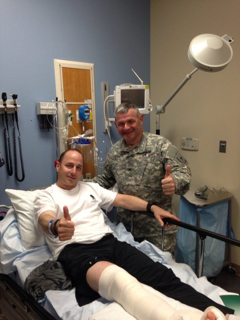 Brian Cashman Looks Pretty Chill For A Guy Who Just Had Ankle Surgery