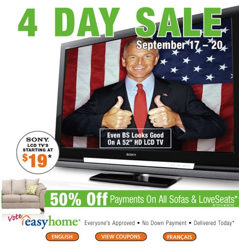 Canadian Retailer Uses Honesty and Anti-US Sentiment to Sell HDTVs