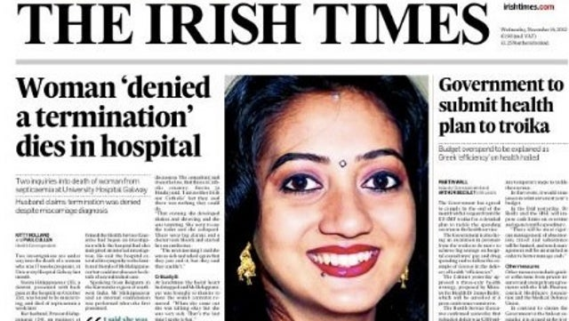 Woman in Ireland Dies After Being Denied Abortion; Was Told 'This Is a Catholic Country'