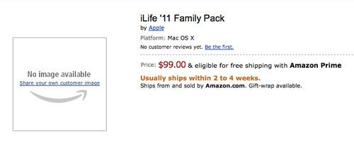 iLife '11 Shows Up Early on Amazon For $99