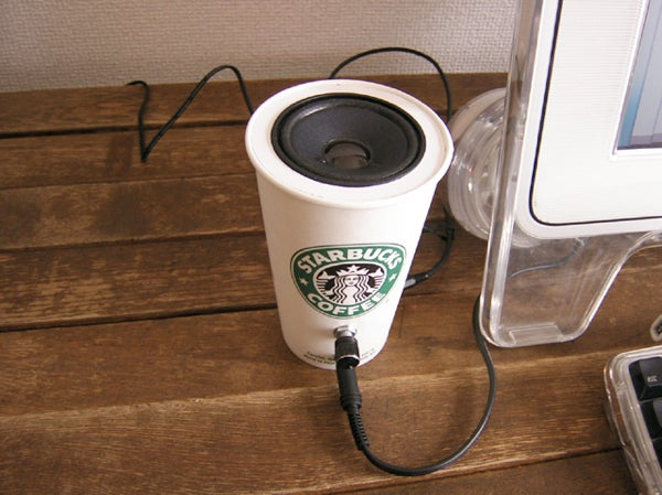 DIY Coffee Cup Speakers Crank Out Grande Sound