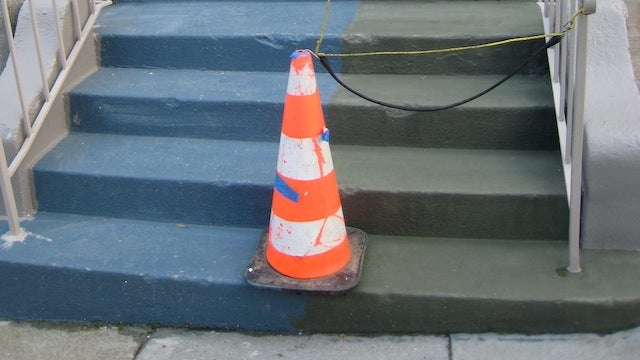 Mix Sand and Paint to Slip-Proof Stairs