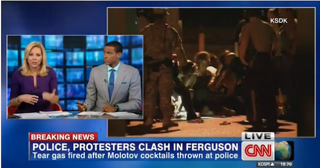 CNN Anchor Suggests Police Use Water Cannons On Ferguson Protesters