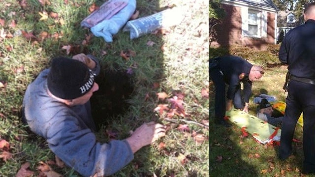 80-Year-Old Man Goes for Morning Paper, Falls in Sinkhole