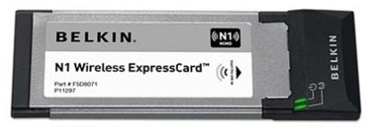 Belkin N1 Adds 802.11n to Your Express Card Laptop