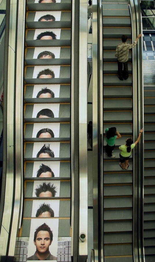 Escalator Ads Are the Most Awkward Way to Advertise