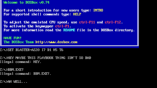 The Only Reason to Use a PlayBook Is DOS