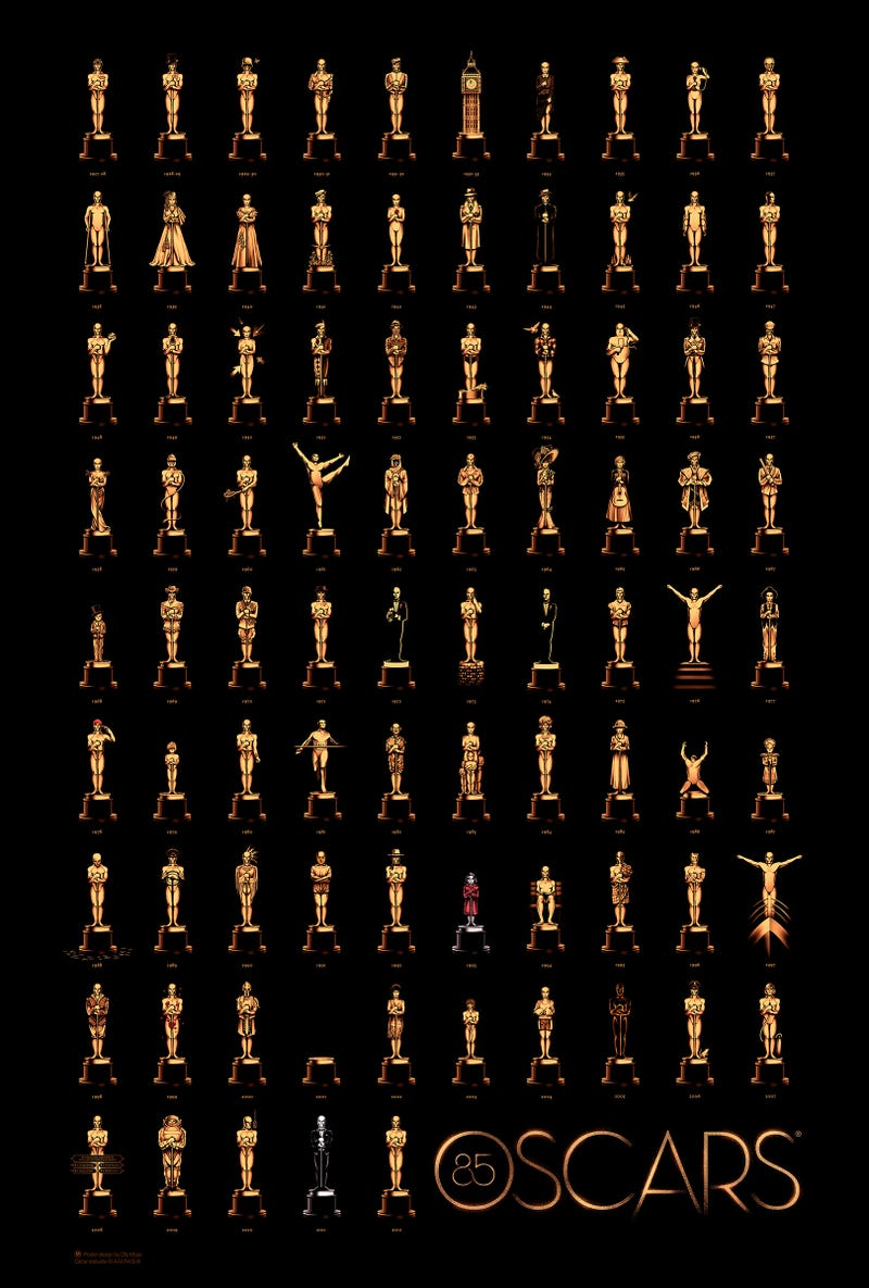 85 años de Óscars a la mejor película en un solo póster