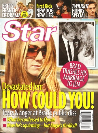 This Week In Tabloids: Brad's Trapped, Jen's Devastated, Obamas Are Just Like Us