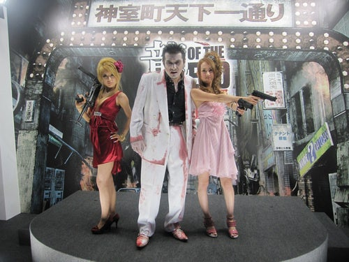 Look! A Zombie Yakuza And Two Girls With Guns