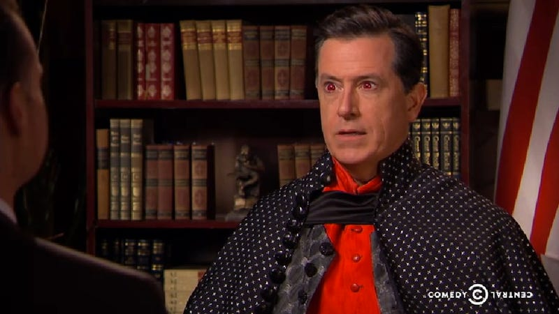 Colbert Interviewed the Scary Vampire Who's Running for Congress