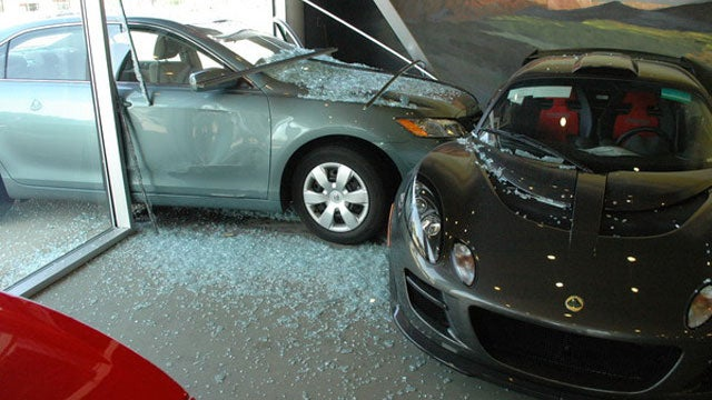 92-year-old crashes Toyota Camry into Lotus dealership