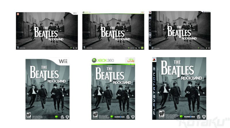 Here's Your Beatles: Rock Band Box Art