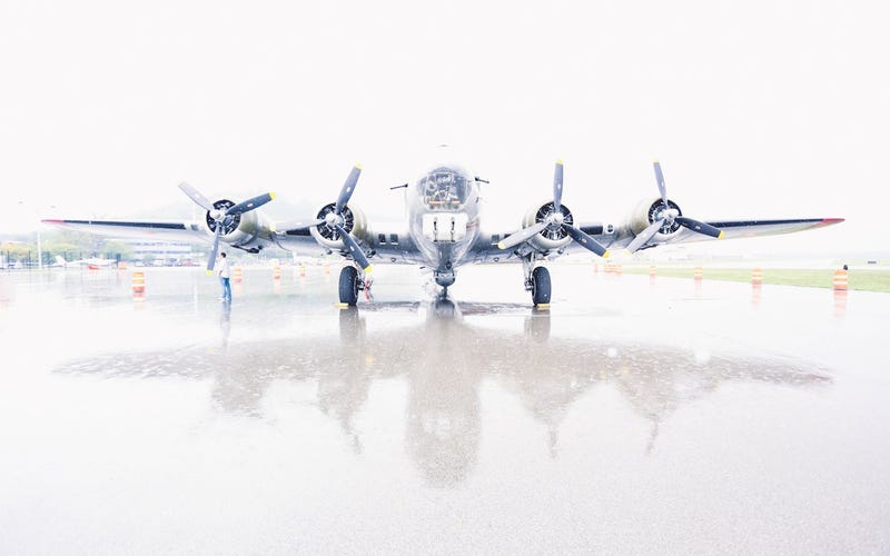 After a ride on the B-17 Bomber, we're never flying coach again