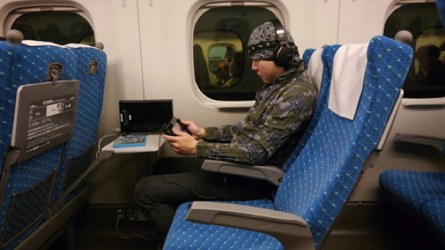 Yes, the Wii U Also Works on Japanese Bullet Trains