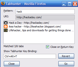 Tabhunter Adds Faster Tab Switching to Firefox