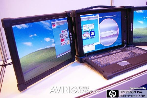Three-Screened Laptop is Pretty Sweet