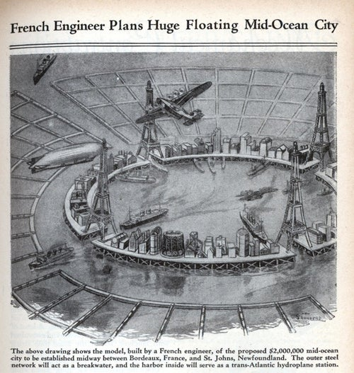 French designer had plans for Waterworld...in the 1930s