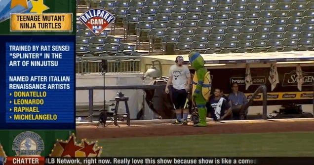 Carlos Gomez Is A Dancing Ninja Turtle