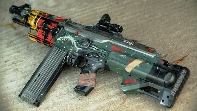 See How An Ordinary Nerf Gun Transforms into This Brink Assault Rifle