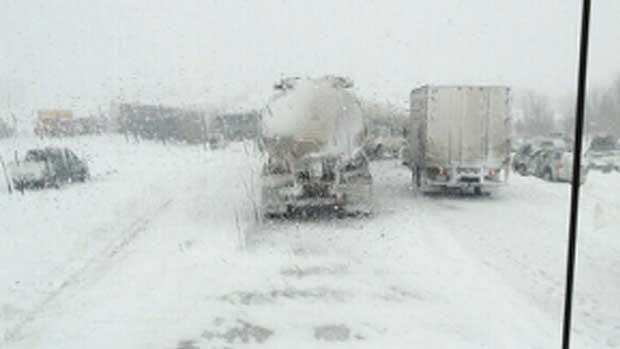 Highway Pileup Near Edmonton Leaves 100 Injured