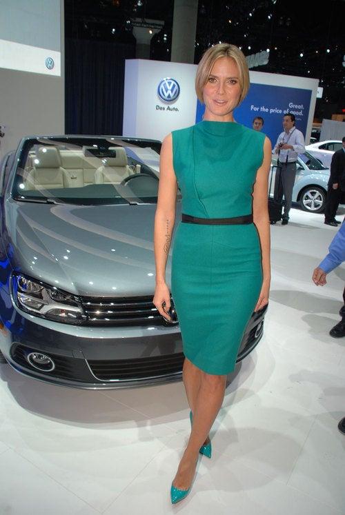 Heidi Klum Eclipses 2012 Volkswagen EOS