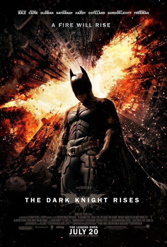 Gotham Ablaze in New Dark Knight Rises Poster