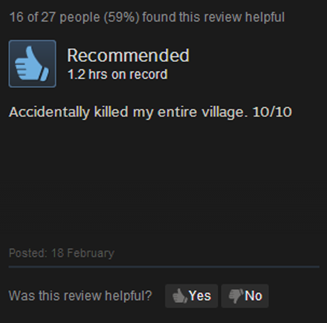 Banished, As Told By Steam Reviews