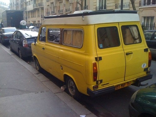 Ford Transits Down On The Paris Street