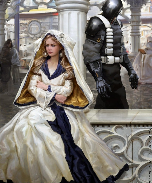 Concept Art Writing Prompt: The Lady and the Cyborg