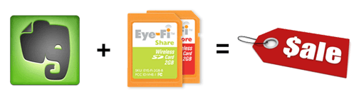 Get $30 Off Eye-Fi Wireless-Upload Memory Cards from Evernote