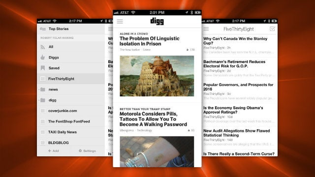 Digg's iOS App Gets Support for Digg Reader