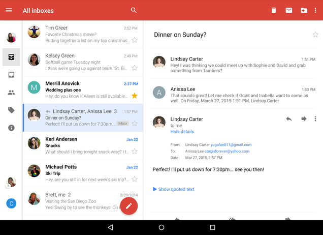 Finally, Gmail's Android App Can Show All Your Accounts In One Inbox