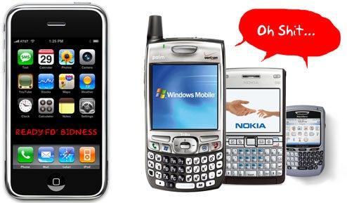 Gartner Says iPhone Now OK for Biz; BlackBerry and Window Mobile Mess Selves