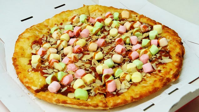 Pizza Hut Is Releasing a Caramel Marshmallow Pizza in Japan