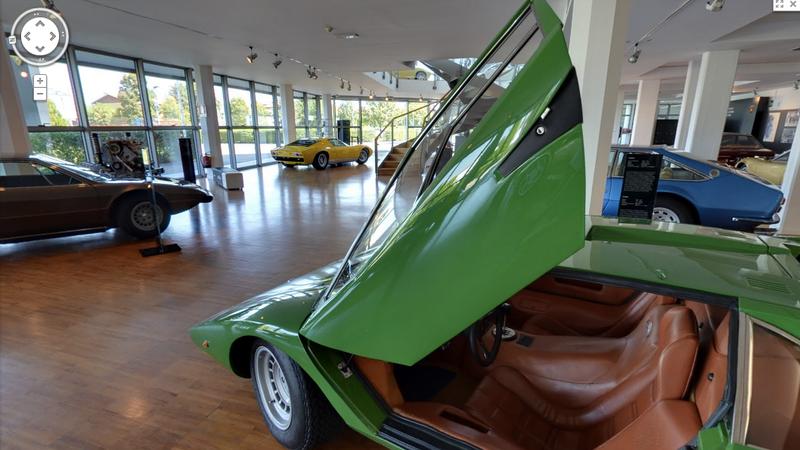Tour The Lamborghini Museum On Google Street View, Climb Into A Miura!