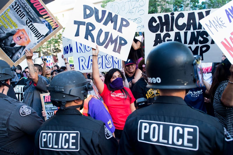 Protestors and Supporters Brawl Outside Donald Trump Rally in San Jose