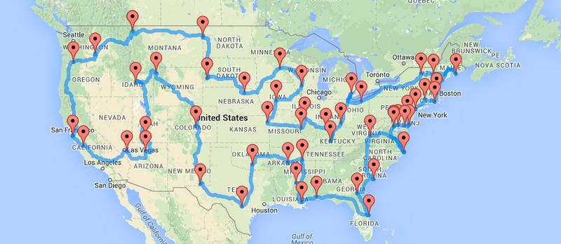 how to drive across america