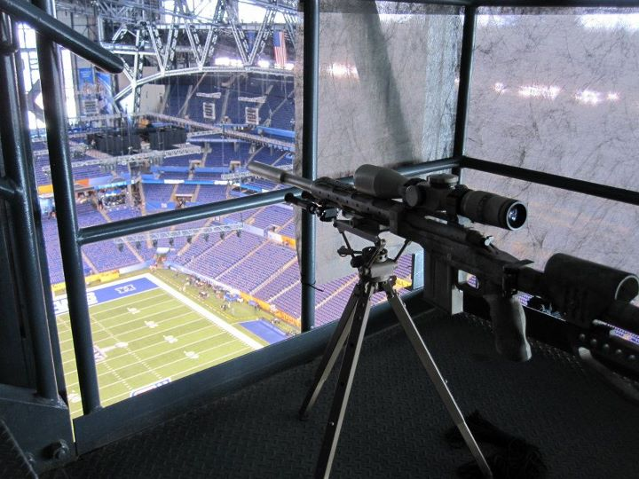 This Looks Like A Fortified Sniper's Nest At The Super Bowl