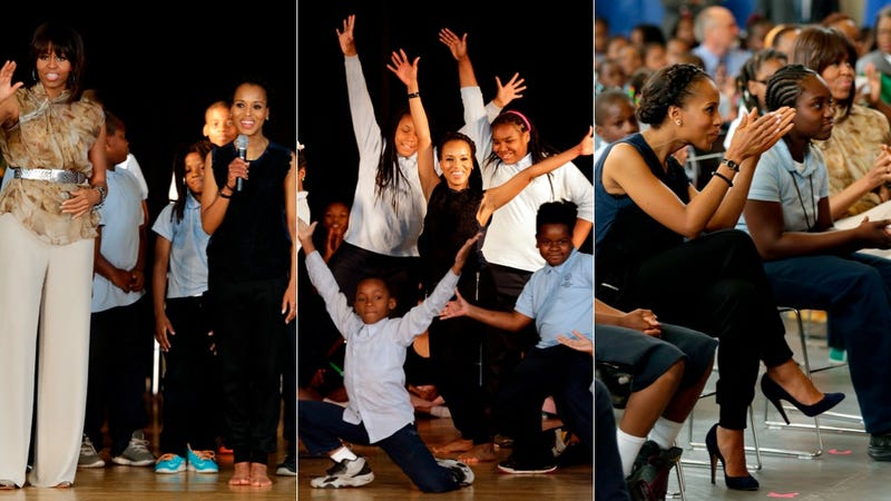 Kerry Washington and Michelle Obama Go Back to School
