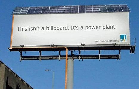 "Solar Billboard is a ""Power Plant"""