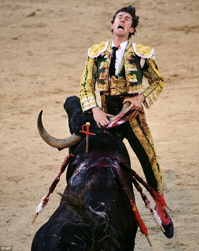Spanish Matador Messes With Bull, Gets Horns