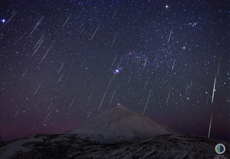 Fifty Meteors Light Up the Night Sky
