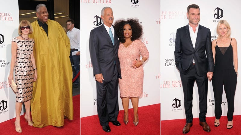Oprah, Tight Trousers and a Mustard Caftan at The Butler Premiere