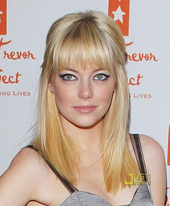 Spiderman Emma Stone as a blonde