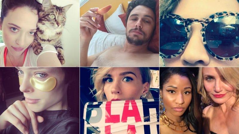 Selfie Loathing: Coco Rocha Tries Out 24k Gold Under-Eye Masks